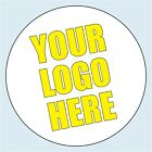 Personalised Circle / Round Business Logo Stickers. 4 sizes. Add your logo
