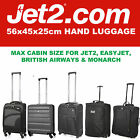 JET 2 HOLIDAYS 56x45x25 MAX LARGE CABIN HAND CARRY LUGGAGE SUITCASE TRAVEL BAGS