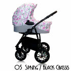 4in1 SWIVEL WHEELS TRAVEL SYSTEM PRAM PUSHCHAIR CAR SEAT RAINCOVER BAG SPORT !!