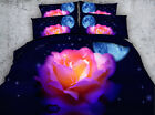 Illuminated flower 4 Piece bedding set   -5 sizes available