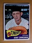 1965 Topps Baseball Card #299 JERRY ZIMMERAN Twins NRMT