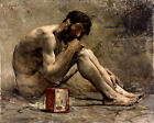 Classic French art print of a Greek Philosopher: Diogenes by Bastien-Lepage