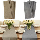 5pcs Retro Imitated Linen Hessian Burlap Table Runner Wedding Event Table Decor