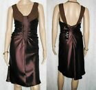 A.B.S. by ALLEN SCHWARTZ Chocolate Brown Ruched Cocktail Dress SIZE S NWT $145