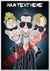 Depeche Mode Caricature Personalised Greeting Card Birthday Electronic Rock DM