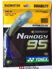 [Max 30lbs] Genuine YY NBG95 Nanogy 0.69mm Badminton String Racket 10m (9 Color)