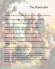 Christian Literary Art Print:The Beatitudes of Jesus from the Gospels