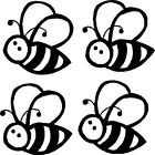 Four Buzzy Bee Vinyl Sticker Decal Car Window Wall Laptop Bumper Decor Chirstmas