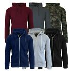 Men's Heavy Weight Fleece Lined Hoodie Jacket -Full Zip- S-XXL