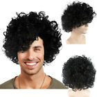 Celebrity Icon Prince Style Purple Rain Curls Men Costume Wig Cosplay HM-082