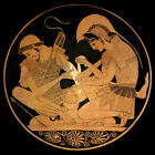 Square Achilles and Patroclus (Classic Iliad Greek art  print)