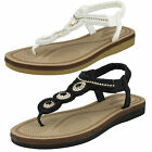 Ladies White Savannah Collection Toe Post Sandals UK Sizes 3 - 8 F0987