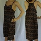 Boho Aztec Slip Dress NEW Ladies Size 12 14 16 Cool Rayon Racer Back