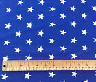 Rose & Hubble Cotton Poplin Fabric Material - Blue with White Stars - 1 Metre