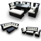 Jamaican Outdoor Wicker Patio Furniture Sofa and Dining Set Combination