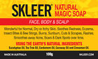 CHILD ECZEMA~ITCHY/ SORE/ DRY SKIN/ SCALP RELIEF~Soap ~Natural Remedy