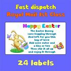 7designs HAPPY EASTER BUNNY TAILS EGG FUN KISSES POOP BAIT NOVELTY LABEL STICKER