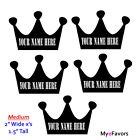 Personalized Crowns Vinyl Label Stickers Prince Theme Baby Shower Party Favors