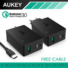 Aukey Quick Charge 3.0 USB-C Wall Charger Universal Travel Charger + TypeC Cable
