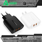 Aukey 2x QC2.0 Wall Charger Quick Charge Fast Charge Qualcomm Charger +2 Cable