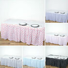 6 pcs 14 ft PLASTIC Polka Dots TABLE SKIRTS Disposable Wedding Party Catering