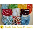 Select Lot of Giggle Life Bamboo Cloth Diapers & Inserts Fits Babies 7-36 lbs