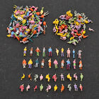 100 pcs Painted Mini People Figures 1:100 Scale Painted Train Passenger Model