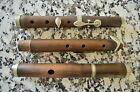 Antique Four Keyed Wooden Flute from Unknown Maker