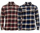 Mens Jachs 9oz Cotton Flannel Check Shirt | Work | Casual |Long Sleeve S-XL TALL
