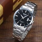 Fashion Women's Men's Stainless Steel Date Analog Quartz Waterproof Wrist Watch image