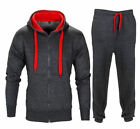 Men Hoodie Active Sports Jogging Top Bottom Warm Fleece Tracksuit  UK S M L XL