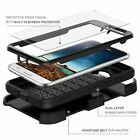 Rugged Hybrid Phone Case Cover Stand Clip Holster with Built-in Screen Protector