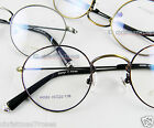 Men women Eyeglass frame optical RX metal thin Vintage Round brown/silver/bronze