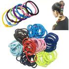 Hair Bobbles Elastic Stretchy Band Women Tie Hairbands Ponytail Thick Snag Color