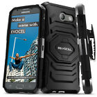 Galaxy J3 Prime Case, Evocel Dual Layer Rugged Holster with Kickstand & Clip