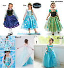 FROZEN KIDS DRESS ELSA ANNA PRINCESS DRESS  COSTUME PARTY FANCY SNOW QUEEN /1