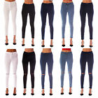 NEW WOMENS LADIES HIGH WAISTED STRETCHY SKINNY JEANS JEGGINGS SIZES 6 - 18