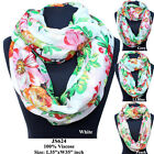 New Fashion Girls Vintage Long Soft Voile Scarf Infinity Shawl Stole Scarves
