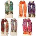 Women's Soft Pashmina Silk Classic Solid Cashmere Wool Shawl Scarf Stole Wrap