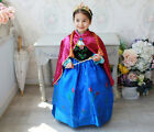 Fashion Kids Girls Costume Cosplay Frozen Elsa Queen Princess Party Dress