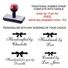 PERSONALISED CUSTOM HANDMADE BY BOW RUBBER STAMP 11637 CARD MAKING CRAFTS HOBBY