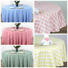 "70"" Checkered Gingham Tablecloth Polyester Round Linens Wedding PARTY"
