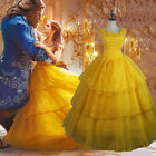 Beauty and the Beast Belle Cosplay Costume Disney Halloween Party Dress