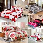 Queen /King Size 4pcs 3D Printed Bedding Set Soft Bedclothes Quilt Cover Bedroom