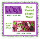 Music themed silicone moulds - CHOOSE YOUR STYLE- cake fondant notes guitar
