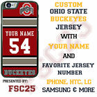 Custom Ohio State Buckeye Football Jersey Phone Case w/ Your Name & # for iPhone