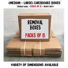 Double Wall Moving Shipping Removal Packing Cardboard Boxes - Packs of 15