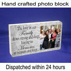 Personalised block with photo and message unique gift new family memories