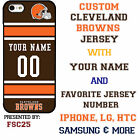 Cleveland Browns NFL Phone Case Cover for Samsung s7 s7 edge s6 Note 5 etc