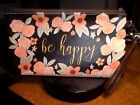 BROWNLOW GIFTS BA APPY MAKE UP BAG WITH TOGGLE CLOSURE PEACH COLOR FLOWERS
